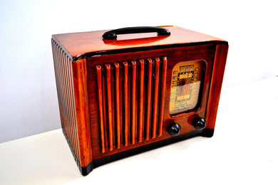 Golden Age of Radio 1940 Emerson Model 179 Wood Radio Beauty! Sounds Wonderful! - [product_type} - Emerson - Retro Radio Farm
