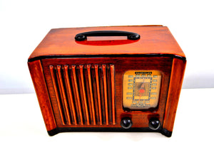 SOLD! - Aug 6, 2019 - Golden Age of Radio 1940 Emerson Model 179 Wood Radio Beauty! Sounds Wonderful! - [product_type} - Emerson - Retro Radio Farm