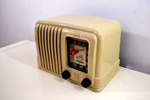 Royale Ivory 1941 RCA Victor 1-X-2 Tube AM Radio Golden Age and Swanky! - [product_type} - RCA Victor - Retro Radio Farm