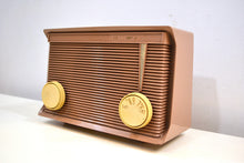 Load image into Gallery viewer, Sandy Beige Tan 1959 Motorola Model A7N-62 Vacuum Tube AM Radio Sounds Wonderful! - [product_type} - Motorola - Retro Radio Farm