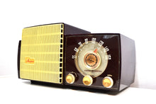 Load image into Gallery viewer, Burgundy Swirl Marble 1956 General Electric Model 870 Musaphonic Vacuum Tube Radio Big Sounding! - [product_type} - General Electric - Retro Radio Farm
