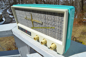 Aquamarine Mid Century Vintage 1959 Arvin Model 2585 Tube Retro Radio - [product_type} - Arvin - Retro Radio Farm