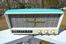 Load image into Gallery viewer, Aquamarine Mid Century Vintage 1959 Arvin Model 2585 Tube Retro Radio - [product_type} - Arvin - Retro Radio Farm