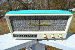 Aquamarine Mid Century Vintage 1959 Arvin Model 2585 Tube Radio So Sweet!