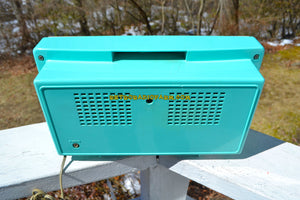 SOLD! - Apr 3, 2019 - Aquamarine Mid Century Vintage 1959 Arvin Model 2585 Tube Retro Radio - [product_type} - Arvin - Retro Radio Farm