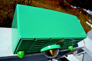 SOLD! - Sept 16, 2018 - Seafoam Green Mid Century Retro Jetsons 1957 Motorola 56H Turbine Tube AM Radio Works Amazing! - [product_type} - Motorola - Retro Radio Farm