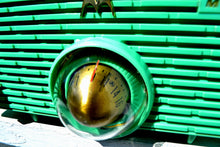 Load image into Gallery viewer, SOLD! - Sept 16, 2018 - Seafoam Green Mid Century Retro Jetsons 1957 Motorola 56H Turbine Tube AM Radio Works Amazing! - [product_type} - Motorola - Retro Radio Farm