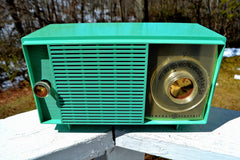 Amazon Echo Dot™ Included- TURQUOISE Mid Century Vintage 1959 General Electric Model T-129C Tube Radio