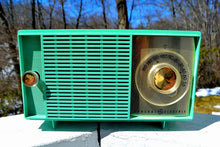Load image into Gallery viewer, SOLD! - Jan 20, 2019 - Amazon Echo Dot™ Included - Turquoise Vintage 1959 General Electric Model T-129C Tube Radio - [product_type} - General Electric - Retro Radio Farm