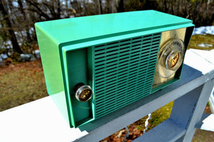 SOLD! - Jan 20, 2019 - Amazon Echo Dot™ Included - Turquoise Vintage 1959 General Electric Model T-129C Tube Radio - [product_type} - General Electric - Retro Radio Farm