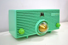 Load image into Gallery viewer, Surf Green 1957 Vintage  Motorola 56H Turbine Vacuum Tube AM Radio Gotta Get One! - [product_type} - Motorola - Retro Radio Farm