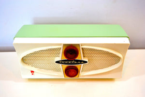 SOLD! - Oct 1, 2019 - Cool Mint Green Retro Vintage Mid Century Jetsons 1950's Truetone AM Tube Radio Fab 50s Glory! - [product_type} - Truetone - Retro Radio Farm