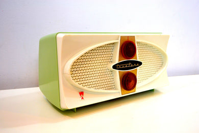 Cool Mint Green Retro Vintage Mid Century Jetsons 1950's Truetone AM Tube Radio Fab 50s Glory! - [product_type} - Truetone - Retro Radio Farm