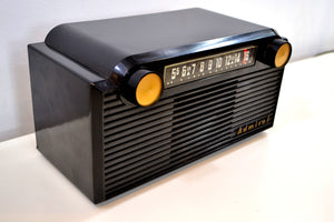 SOLD! - April 2, 2019 - Chalcedony Black 1952 Admiral 5G35N AM Tube Radio Mid Century Appeal in Spades! - [product_type} - Admiral - Retro Radio Farm
