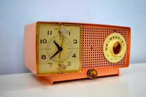 SOLD! - Mar 29, 2019 - Chiffon Pink Vintage 1959 General Electric Model C437A Tube AM Clock Radio Cream Puff!