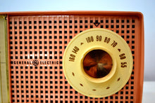 Load image into Gallery viewer, SOLD! - Mar 29, 2019 - Chiffon Pink Vintage 1959 General Electric Model C437A Tube AM Clock Radio Cream Puff!