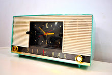 Load image into Gallery viewer, Laguna Aqua Mid Century 1958 Packard Bell Model 6RC1 AM Vacuum Tube Clock Radio Rare Looks Works Great! - [product_type} - Packard-Bell - Retro Radio Farm