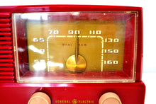 Load image into Gallery viewer, Bluetooth Ready - Burgundy Mid Century Modern Vintage 1953 General Electric Model 416 AM Tube Radio - [product_type} - General Electric - Retro Radio Farm