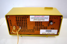 Load image into Gallery viewer, SOLD! - Apr 3, 2019 - Goldenrod Beige Yellow 1963 Motorola Model C3CS Tube AM Clock Radio Near Mint! - [product_type} - Motorola - Retro Radio Farm