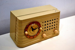 Art Deco Post War 1949 Telechron Model 8H59 Tube AM Clock Radio First Clock Radio! - [product_type} - Telechron - Retro Radio Farm