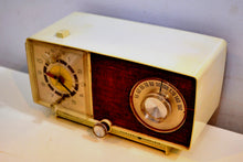 Load image into Gallery viewer, Beige Ivory 1966 General Electric Model C-546 AM Vintage Radio Very 60s Mod Looking Radio! - [product_type} - General Electric - Retro Radio Farm