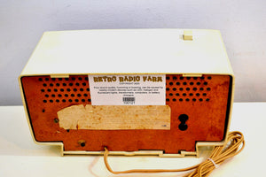 Beige Ivory 1966 General Electric Model C-546 AM Vintage Radio Very 60s Mod Looking Radio! - [product_type} - General Electric - Retro Radio Farm