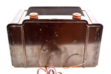 Load image into Gallery viewer, Espresso Brown Bakelite 1947 Trav-Ler Model 50XX AM Vacuum Tube Radio Cute As A Button! - [product_type} - Travler - Retro Radio Farm