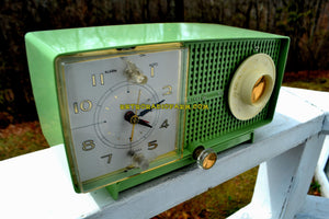 SOLD! - Apr 6, 2018 - SPRING GREEN 1958 GE General Electric Tube AM Radio Model C-438B Radio Mint Condition! - [product_type} - General Electric - Retro Radio Farm