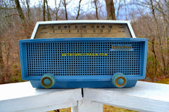 SOLD! - Apr 4, 2018 - MERCURY BLUE Mid Century Retro Vintage 1955 Hallicrafters Model 622 Tube AM Shortwave Radio Totally Awesome!