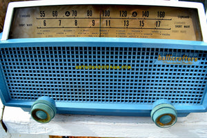 SOLD! - Apr 4, 2018 - MERCURY BLUE Mid Century Retro Vintage 1955 Hallicrafters Model 622 Tube AM Shortwave Radio Totally Awesome! - [product_type} - Hallicrafters - Retro Radio Farm