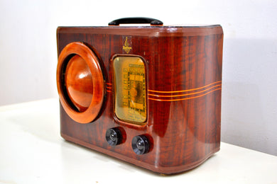 Golden Age of Radio 1939 Emerson Model 315 Wood Radio Ingraham Handcrafted Cabinet! Sounds Wonderful! - [product_type} - Emerson - Retro Radio Farm