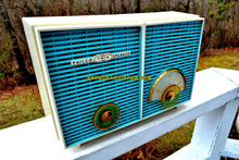 Load image into Gallery viewer, SOLD! - Sept 25, 2018 - BLUETOOTH MP3 UPGRADE ADDED - Retro Wonder Turquoise And White 1958 Philco H836-124 AM Tube Radio Mint Condition And Rare! - [product_type} - Philco - Retro Radio Farm