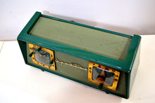 Load image into Gallery viewer, Dark Evergreen with Light Green Mesh 1954 Sparton Model 375C AM Tube Radio Real Looker! - [product_type} - Sparton - Retro Radio Farm