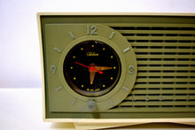 Load image into Gallery viewer, SOLD! - Apr 18, 2019 - Avocado Green and Ivory Vintage 1959 Admiral Y1189 AM Clock Radio - [product_type} - Admiral - Retro Radio Farm