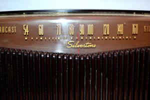 Espresso Brown Retro Vintage 1949 Silvertone Model 9005 AM Vacuum Tube Radio Works Great! - [product_type} - Silvertone - Retro Radio Farm