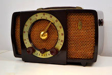 Load image into Gallery viewer, Chocolate Brown Mid Century 1955 Zenith H724 AM/FM Vacuum Tube Radio Popular Model! - [product_type} - Zenith - Retro Radio Farm