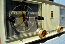 Load image into Gallery viewer, SOLD! - Apr 19, 2018 - TAN PINK and White 1956 Zenith Model C519L AM Tube Clock Radio Works Great! - [product_type} - Zenith - Retro Radio Farm