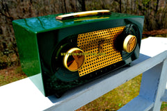 SOLD! - May 6, 2018 - CANDY APPLE GREEN 1955 Zenith Model R511F AM Tube Radio Excellent Condition!