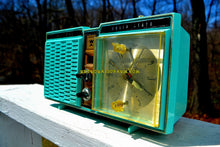 Load image into Gallery viewer, Azurite Blue1964 Truetone Model DC2614 Solid State Clock Retro Radio - [product_type} - Truetone - Retro Radio Farm