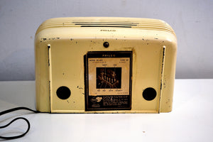 Ivory Bakelite Vintage 1948 Philco Model 48-460 AM Radio Loud as a Hippo! - [product_type} - Philco - Retro Radio Farm