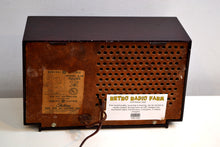 Load image into Gallery viewer, Mahogany Swirl 1956-1958 General Electric Model 875 AM Vacuum Tube Radio Budget Blaster! - [product_type} - General Electric - Retro Radio Farm