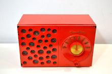 Load image into Gallery viewer, Raconteur Red 1953 Crosley Model JT-3 AM Tube Radio Swiss Cheese Grill, Not Cheesy At All! - [product_type} - Crosley - Retro Radio Farm