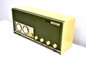 Moss Green Vintage 1966 Silvertone Model 6018 AM/FM Vacuum Tube Radio Excellent Sounding and Gimmicky Beyond Comparison! - [product_type} - Silvertone - Retro Radio Farm
