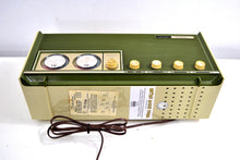 Load image into Gallery viewer, Moss Green Vintage 1966 Silvertone Model 6018 AM/FM Vacuum Tube Radio Excellent Sounding and Gimmicky Beyond Comparison! - [product_type} - Silvertone - Retro Radio Farm