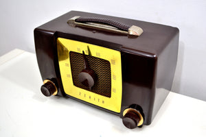 Umber Brown 1951 Zenith Model H615 AM Vacuum Tube Radio Popular Model Sounds Like A Champ! - [product_type} - Zenith - Retro Radio Farm