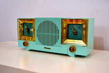 Load image into Gallery viewer, Celeste Blue Mid Century 1952 Firestone Model 4-A-127 Vintage AM Radio Absolutely Stunning! - [product_type} - Firestone - Retro Radio Farm