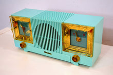 Load image into Gallery viewer, SOLD! - Aug 14, 2019 - Celeste Blue Mid Century 1952 Firestone Model 4-A-127 Vintage AM Radio Absolutely Stunning! - [product_type} - Firestone - Retro Radio Farm