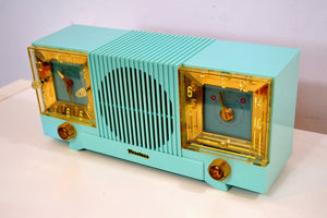 Celeste Blue Mid Century 1952 Firestone Model 4-A-127 Vintage AM Radio Absolutely Stunning! - [product_type} - Firestone - Retro Radio Farm