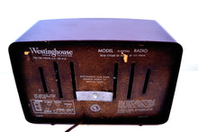 Load image into Gallery viewer, SOLD! - May 8, 2019 - Lustrous Brown and Boucle Grill Vintage 1950s Westinghouse H-327T60 AM Radio Looks Snazzy! - [product_type} - Westinghouse - Retro Radio Farm