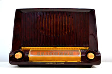 Load image into Gallery viewer, Burgundy Swirl Marble 1953 General Electric Model C453 Musaphonic Vacuum Tube Radio Big Sounding! - [product_type} - General Electric - Retro Radio Farm